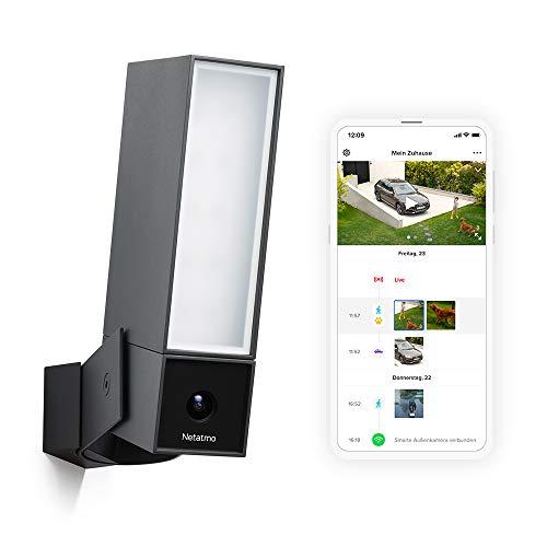 Netatmo Smarte Überwachungskamera Außen, Wlan, Integrierte Beleuchtung , Bewegungserkennung, Nachtsicht,...