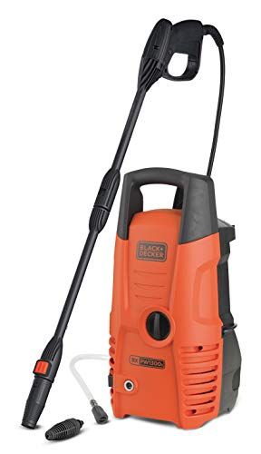 Black + Decker PW1300S Black and Decker 14075 Hochdruckreiniger, 1.300 W, 100 bar, Universalmotor, 1300 W,...