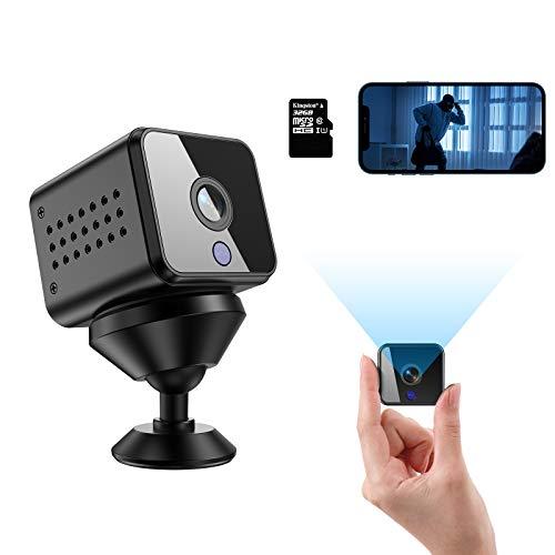 Mini Kamera Überwachungskameras HD 1080P WiFi Nanny Cam Nachtsicht mit und Bewegungserkennung Tragbare mit 32...