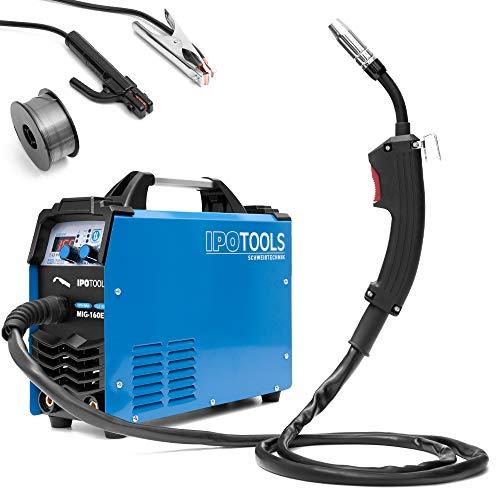 IPOTOOLS MIG-160ER Inverter Schweißgerät MIG MAG - Schutzgas Schweissgerät mit 160 Ampere auch...
