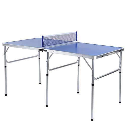 EBTOOLS Indoor/Outdoor Tragbares Tischtennisspiel Set Mini-Tischtennisplatte mit Netz, 2 Paddeln und 3...