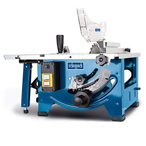 Scheppach Tischkreissäge HS80 (1200W, Sägeblatt Ø 210mm, Schnitthöhe 48mm, Tischgröße 525 x 400 mm)...