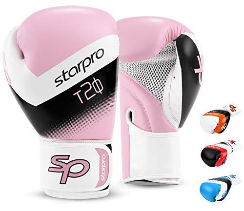 Starpro Kinder T20 Boxhandschuhe | PU Leder | Blau Pink und Weiß | Für Jugendtraining und Sparring im Boxen...