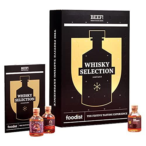 Foodist BEEF! Whisky Adventskalender 2021 - 24 x 50ml Whiskey Minis aus der ganzen Welt als Geschenk und...