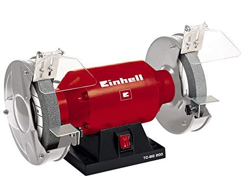 Einhell Doppelschleifer TC-BG 200 (400 W, Drehzahl 2950 min-1, 230 V/50 Hz, inkl. Grob- und Feinschleifscheibe...