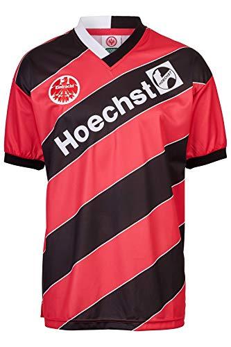 ScoreDraw Herren Retro - Trikot Eintracht Frankfurt | Heimtrikot 1988 in Schwarz-Rot, Größe: XL
