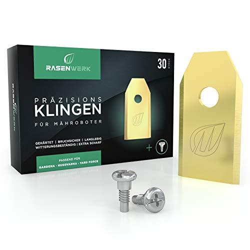 RASENWERK® - Hochwertige Mähroboter Messer mit innovativen Schrauben - Universal Ersatzklingen für...