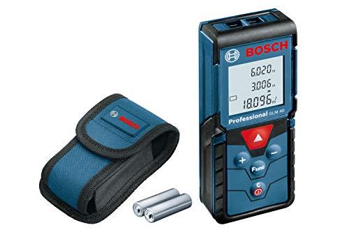 Bosch Professional Laser Entfernungsmesser GLM 40 (Flächen-/Volumenberechnung, max. Messbereich: 40 m, 2x...