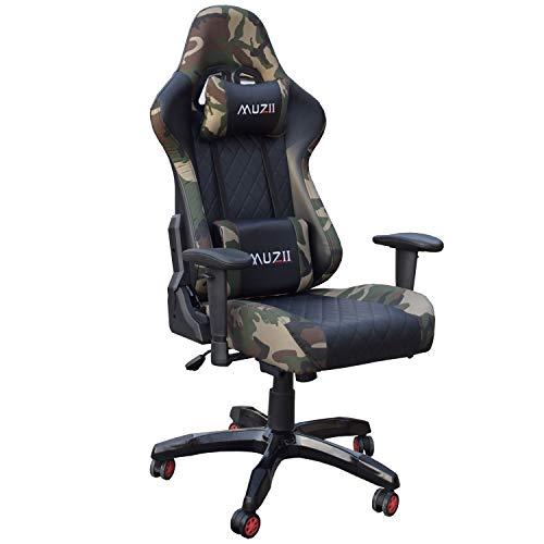 Gharpbik Gaming Stuhl Bürostuhl Schreibtischstuhl mit Armlehne Gamer Stuhl Drehstuhl Höhenverstellbarer...