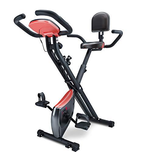 Sportstech X100-B - Bike 4in1 Heimtrainer - einzigartiges Zugbandsystem Handpulssensoren Ergometer...