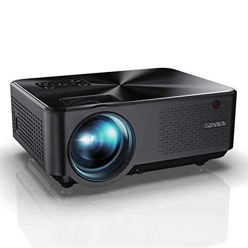Beamer, YABER Mini Beamer 5500 Lumen Unterstützt 1080P Full HD, Projektor mit Sound HiFi Stereo...
