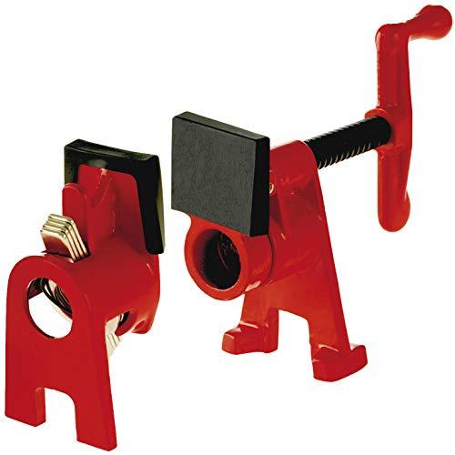 Bessey Rohr-Schraubzwinge (Spannweite frei wählbar, mit Standfuß, für Holz und Stahl; für Stahlroh...
