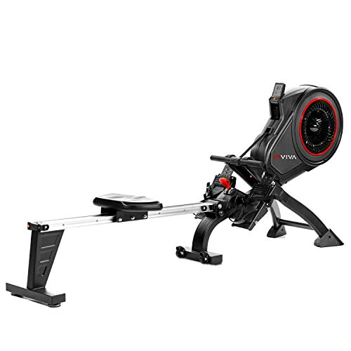 AsVIVA RA14 Rudergerät Magnetic Rower Cardio mit 13kg Schwungmasse, Magnetbremse mit 8 manuelle...