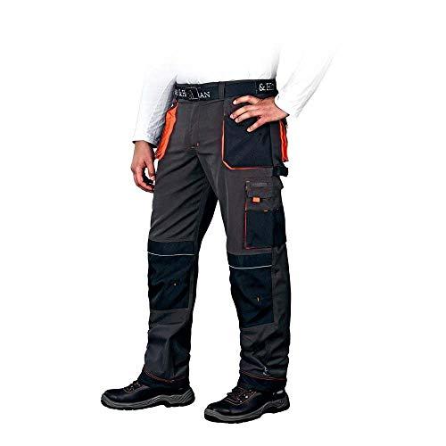 Leber&Hollman LH-FMN-T_SBP48 Formen Schutzhose, Stahlblau-Schwarz-Orange, 48 Größe