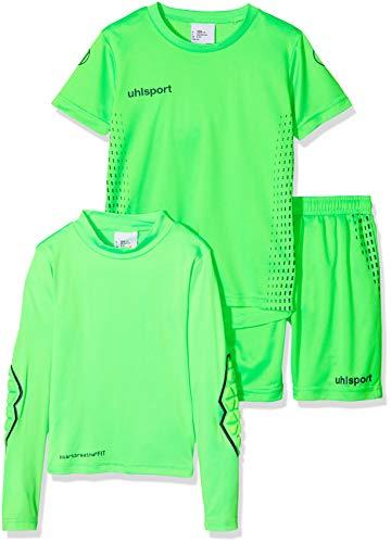 uhlsport Kinder Score Torwarttrikot, Fluo grün/Marine, 140