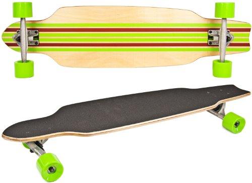 Nick and Ben Long-Board Skate-Board Holz 92cm 36 inch Komplett-Board 5 Schichten Ahorn-Holz Rot Grn High Speed...