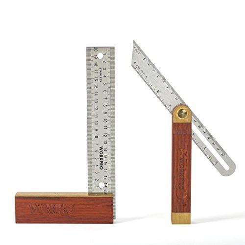 WORKPRO Anschlagwinkel 200mm T-Schmiege 230 mm verstellbar Holz mit Metall