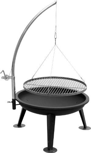 KIUG® kompletter Schwenkgrill Linus 80cm Durchmesser & Grillrost aus Edelstahl, Feuerschale aus Metall TOP...