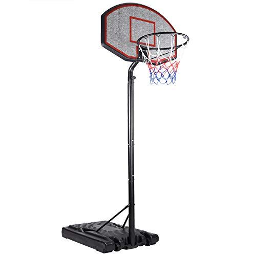 Deuba Mobiler Basketballkorb mit Rollen verstellbare Korbhöhe 257 - max. 305cm Wettkampfhöhe Basketball WM...