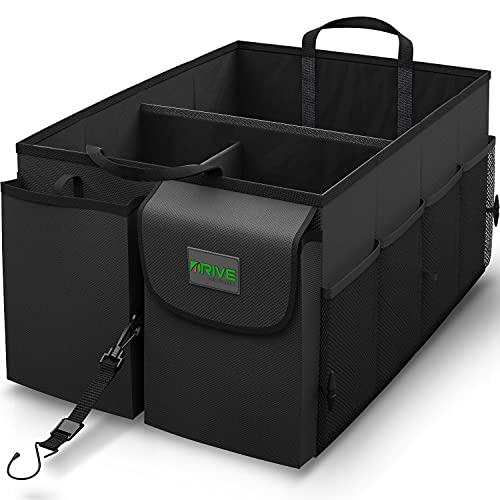 Drive Auto Products Kofferraum Organizer - Praktische Kofferraumtasche mit Fächern - Einkaufskorb,...