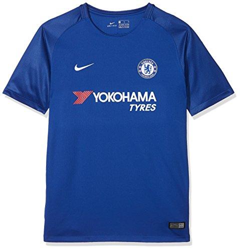 Nike Kinder Breathe Chelsea Stadium Trikot, Rush Blue/White, M