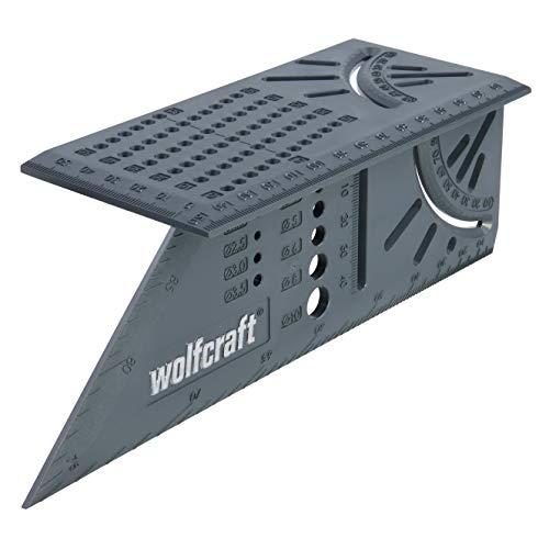 wolfcraft I 3D-Gehrungswinkel I 5208000 I zum Bearbeiten von dreidimensionalen Werkstücken I Anschläge für...
