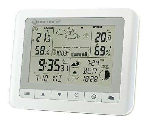 Bresser Wetterstation Funk mit Aussensensor TemeoTrend WF mit Innen-/Außentemperatur und Luftfeuchtigkeit,...