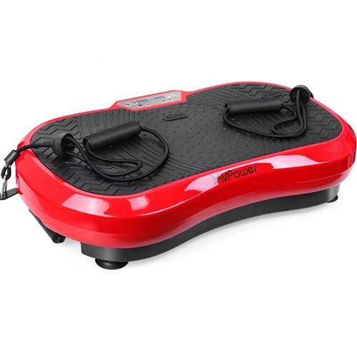 MVPower Vibrationsplatte extra groß Slim und rutschfest, mit Ultra leisem Motor, Ganzkörpertraining zu Hause...