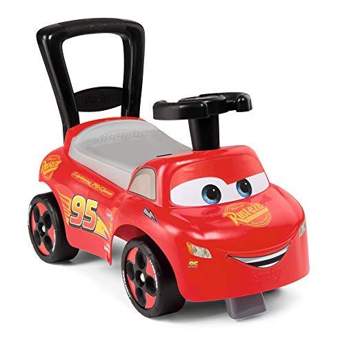Smoby 720523 Mein erstes Auto Rutscherfahrzeug Cars, Kinderfahrzeug mit Staufach und Kippschutz, für drinnen...