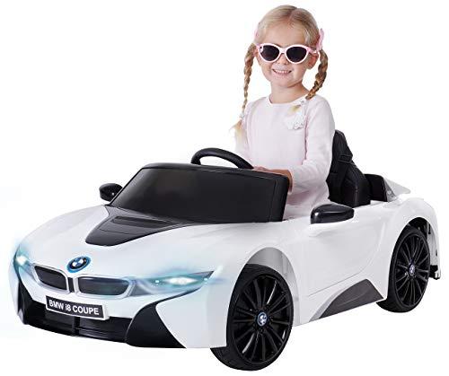 Actionbikes Motors Kinder Elektroauto BMW i8 - Lizenziert - 2 x 25 Watt Motor - Eva Weichgummireifen - 2,4 Ghz...