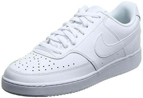 Nike Herren Court Vision Low Sneaker Basketballschuhe, White, 44 EU