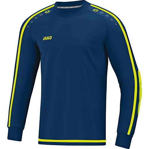 JAKO Kinder Striker 2.0 Tw-Trikot, Navy/Lemon, 152