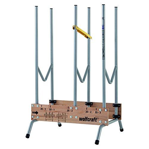 wolfcraft 1 Sägebock 5121000 - zusammenklappbar | Robuster & stabiler Holzbock zum schnellen Zuschneiden von...