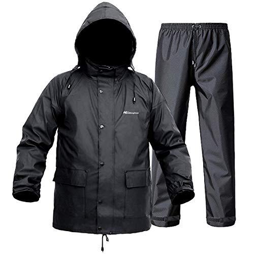 Regenanzug für Herren und Damen, leicht, wasserdicht, Regenmantel (Jacke + Hose), Sets mit winddichter...