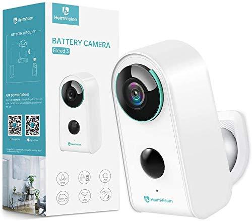 HeimVision HMD3 Überwachungskamera, 1080P Akku Kabellose WLAN Kamera, 2,4GHz WiFi, PIR Bewegungsmelder, IP65...