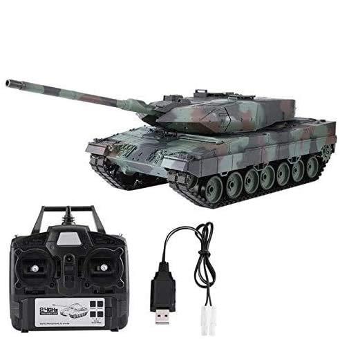 s-idee® 3889-1 Upgrade Version 7 RC Panzer German Leopard 2 A6 RC Kampfpanzer 1:16