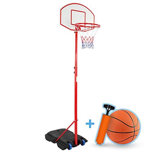 Infantastic® Basketballkorb - Outdoor und Indoor, für Kinder, Höhenverstellbar (148-200), mit Ständer,...
