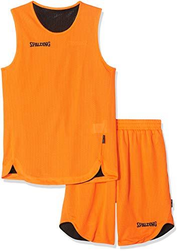 Spalding Kinder Bekleidung teamsport Doubleface Trikot set, 300401006, Mehrfarbig (orange/Schwarz), 140 cm,...