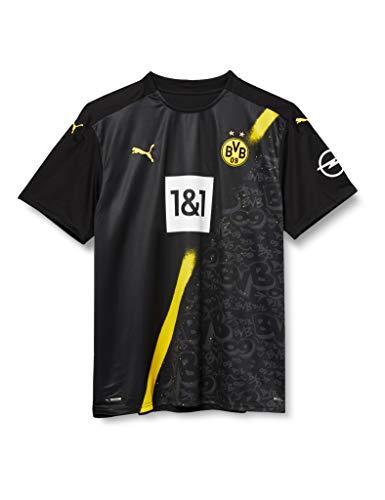 PUMA Herren BVB Away Shirt Replica SS w.Sponsor New T Black, L