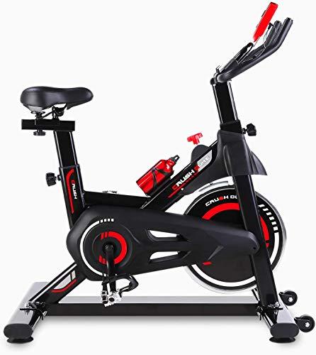 femor HeimtrainerFahrrad, Indoor Cycle 150 kg Belastbar, Fitnessbike mit stufenlose Widerstandseinstellung,...