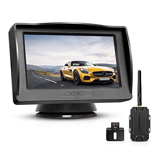 BOSCAM Rückfahrkamera und Monitor Set K1 Wireless Einparkhilfe mit 14.4 cm/4.3' Zoll LCD Farbdisplay Rear...