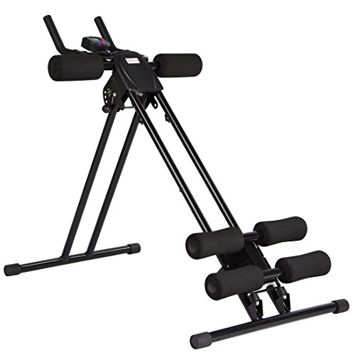 Ultrasport Bauchtrainer Ultra 150 Power AB Trainer, Bauchmuskeltrainer mit Knieauflage, klappbares...