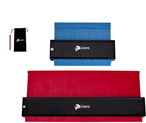 Kontur-Duplikationsmessgerät, erweitert, 25,4 cm, Konturlehre, 12,7 cm EZ-Messgerät, mit Bleistift und...