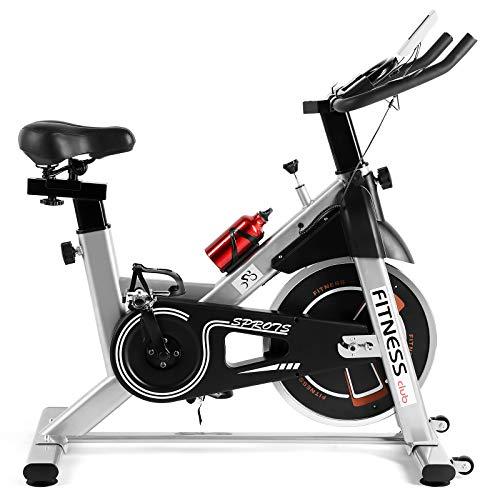 Fitnessclub Heimtrainer Fahrrad Spinning Bikes mit 12KG Schwungrad, Indoor Cycling Bike mit einstellbarem...