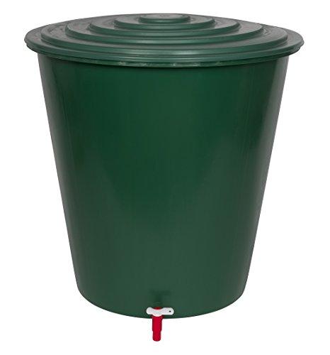 XL Wassertank 210 Liter aus Kunststoff in Grün. Inklusive Wasserhahn (optional zu montieren) und Deckel mit...