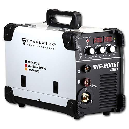 STAHLWERK MIG 200 ST IGBT- Vollausstattung - MIG MAG Schutzgas Schweißgerät mit 200 Ampere, FLUX Fülldraht...