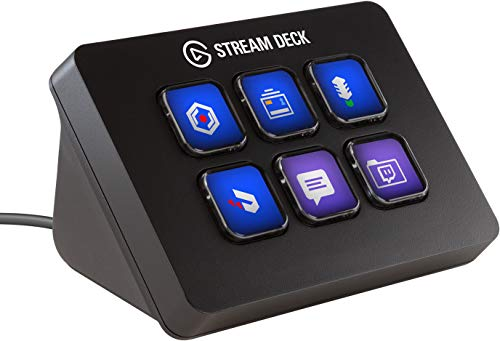 Elgato Stream Deck Mini, Live Content Creation Controller (mit 6 anpassbaren LCD-Tasten, für Windows 10,...