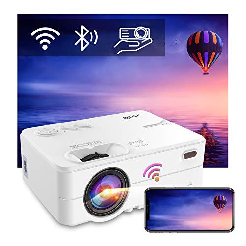 "Mini Beamer WLAN Bluetooth - Artlii Enjoy2 WiFi Beamer Wireless LED Beamer 300"" Unterstützt 1080p Full HD..."