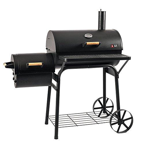 Mayer Barbecue RAUCHA Smoker MS-200 Pro Holzkohlegrill Smoker Grill, für direktes und indirektes Grillen, 29...