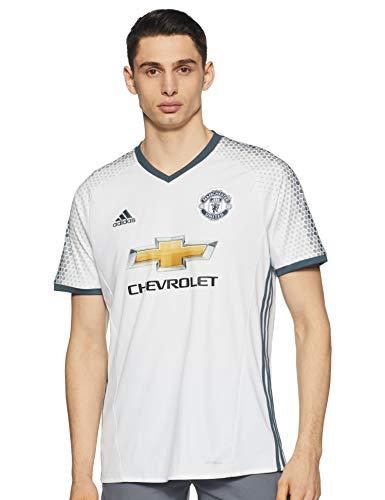 adidas Herren Manchester United Trikot, White/Bold Onix, S